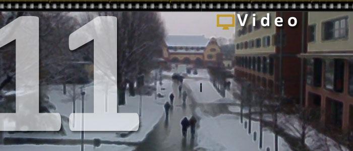 #V011 Menschen Über Bad Homburg: Mit Griechin im Schnee