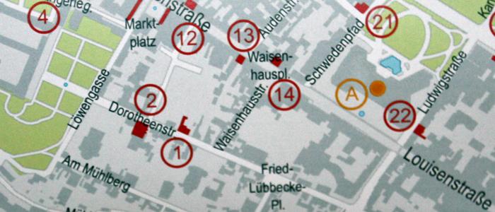 Stadtplan aus der Broschüre