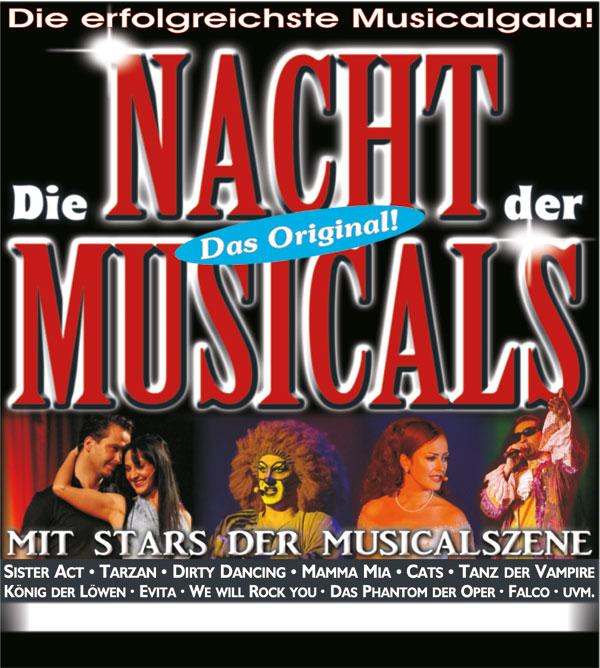 Die Nacht der Musicals Flyer