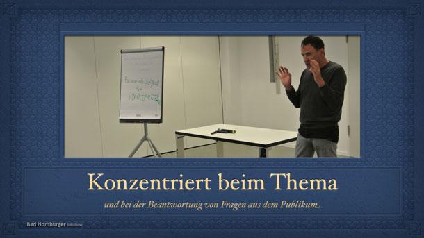 Konzentriert bei seinem Thema Krebs: Prof. Dr. Maar in Berlin