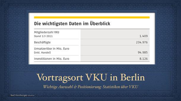 Statistiken zum VKU - Vortragsort in Berlin von Dr. Maar gewählt