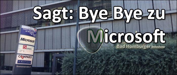Titelbild Bye Microsoft August 2013