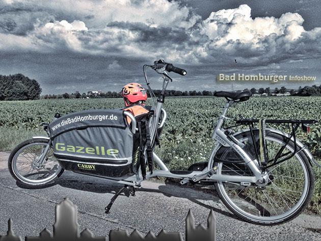 Gazelle Fahrrad im Einsatz