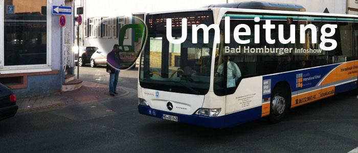 Umleitung der Stadtbusse beim Start der Rallye Monte Carlo