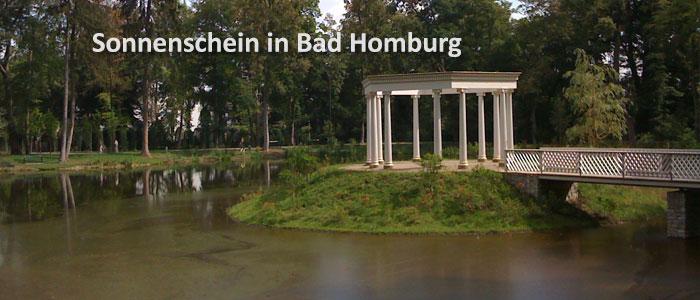 Sonnenschein über Bad Homburg