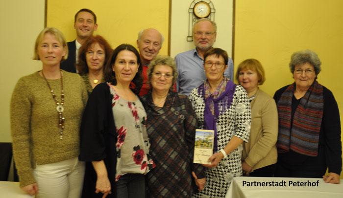 BHIS Partnerstadt Peterhof Gruppenbild