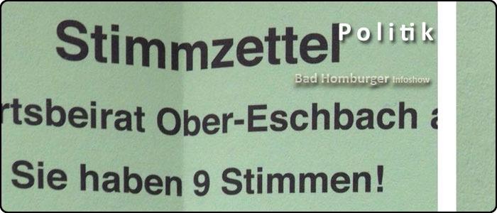 Ortsbeiratswahlen am 6. März müssen für die Ortsbezirke Berliner Siedlung / Gartenfeld, Innenstadt und Kirdorf angepasst werden