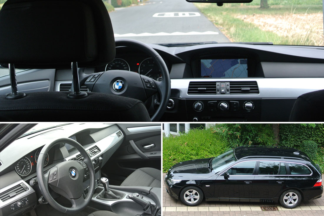 Collage Innenausstattung BMW 523i Touring