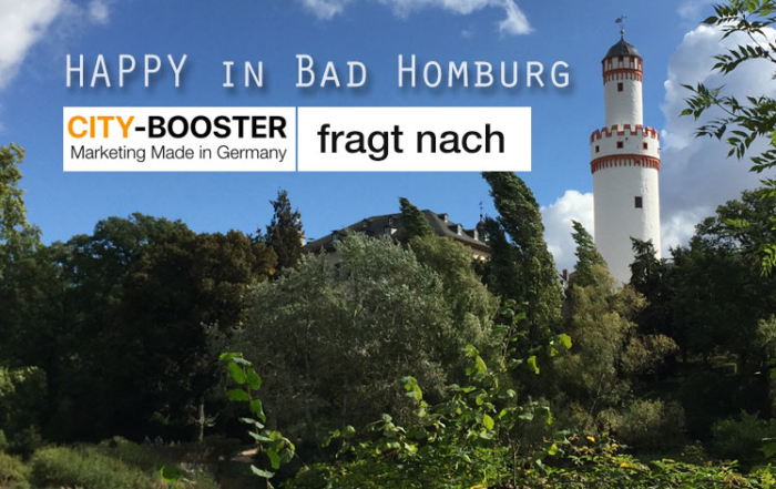 CITY-BOOSTER fragt nach – Zufriedenheit in Bad Homburg