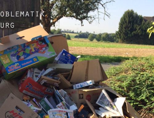 Viele Papiercontainer im Stadtgebiet defekt